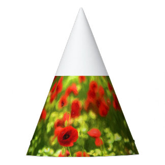 Wonderful poppy flowers VI - Wundervolle Mohnblume Party Hat