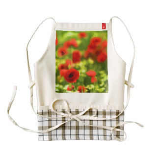 Wonderful poppy flowers VI - Wundervolle Mohnblume Zazzle HEART Apron
