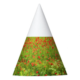 Wonderful poppy flowers VII - Wundervolle Mohnblum Party Hat