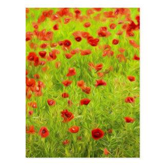 Wonderful poppy flowers VIII - Mohnbluhmen Postcard