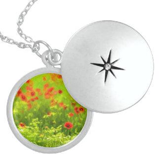 Wonderful poppy flowers VIII - Wundervolle Mohnblu Locket Necklace
