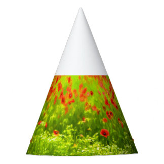 Wonderful poppy flowers VIII - Wundervolle Mohnblu Party Hat