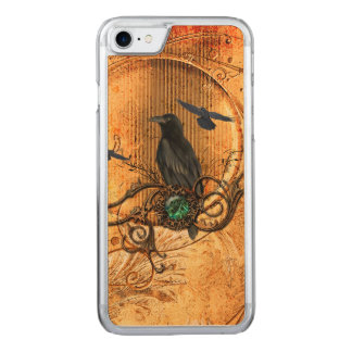 Wonderful raven carved iPhone 7 case
