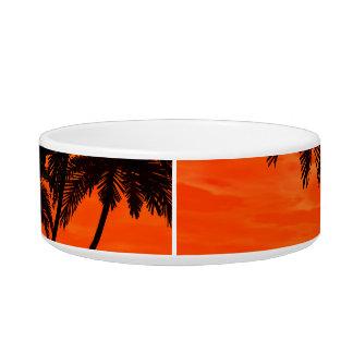Wonderful red sunset bowl