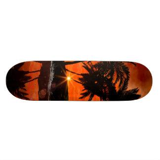 Wonderful red sunset skateboard deck