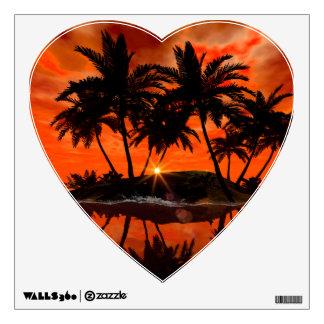 Wonderful red sunset wall sticker