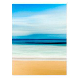 Wonderful Relaxing Sandy Beach Blue Sky Horizon Postcard