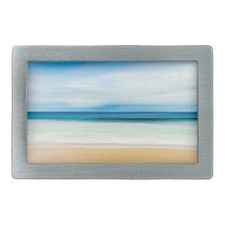 Wonderful Relaxing Sandy Beach Blue Sky Horizon Rectangular Belt Buckle
