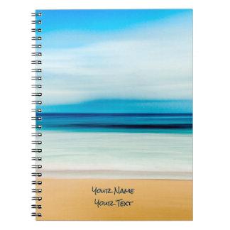 Wonderful Relaxing Sandy Beach Blue Sky Horizon Spiral Notebook