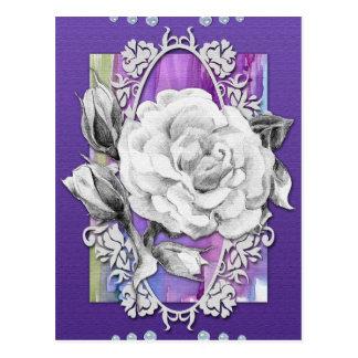 Wonderful rose. Handmade imitation card