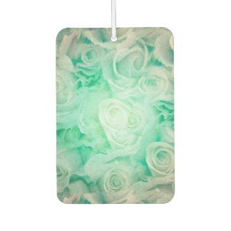 Wonderful roses pattern in soft green colors air freshener