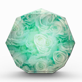 Wonderful roses pattern in soft green colors award