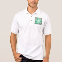 Wonderful roses pattern in soft green colors polo shirt