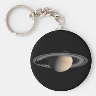 Wonderful Saturn Picture from NASA Basic Round Button Keychain