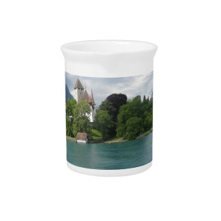 Wonderful scenery in Switzerland on Lake Thun Pitcher