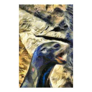 Wonderful Sea Lion Stationery