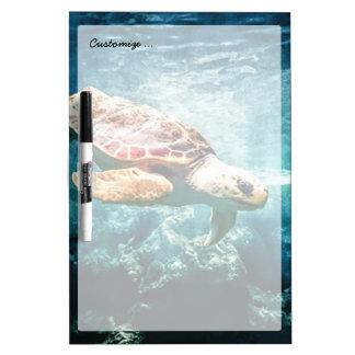 Wonderful  Sea Turtle Ocean Life Turquoise Sea Dry-Erase Board
