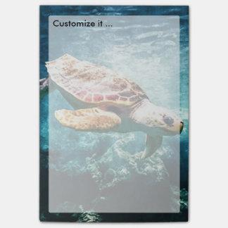 Wonderful  Sea Turtle Ocean Life Turquoise Sea Post-it Notes