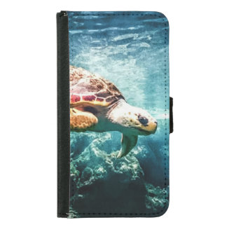 Wonderful  Sea Turtle Ocean Life Turquoise Sea Wallet Phone Case For Samsung Galaxy S5