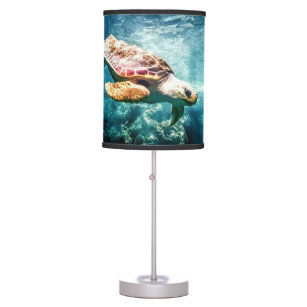 Wonderful Sea Turtle Underwater Life Desk Lamp