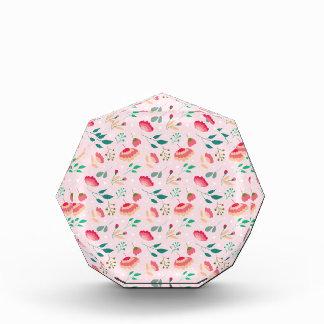 Wonderful soft floral print. acrylic award
