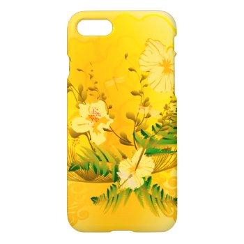 Wonderful soft yellow flowers iPhone 7 case