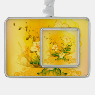 Wonderful soft yellow flowers ornament