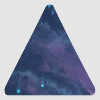 wonderful Star Gaze SKY - Gifts Greetings Dark FUN Triangle Stickers