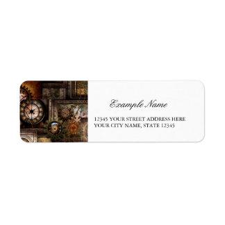 Wonderful steampunk design label