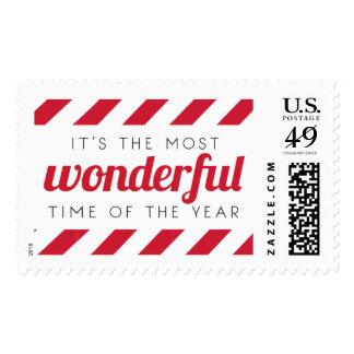 Wonderful Stripes Holiday Postage