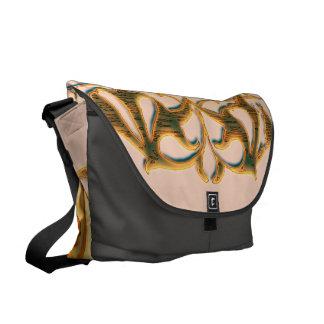 Wonderful sufar skul with roses messenger bag