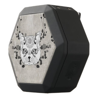 Wonderful sugar cat skull black bluetooth speaker