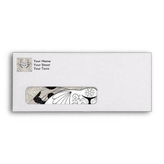 Wonderful sugar cat skull envelope