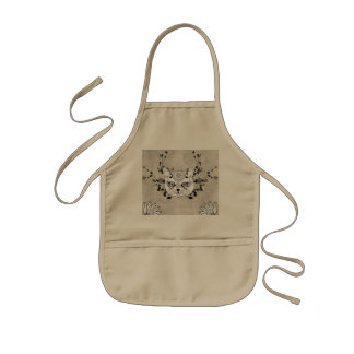Wonderful sugar cat skull kids' apron