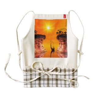 Wonderful sunet over the ocean zazzle HEART apron