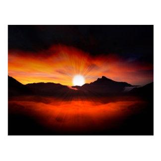 Wonderful Sunset Design Postcard