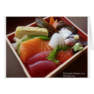 Wonderful Sushi Plate Print On Tees Cards Gifts Greeting Card