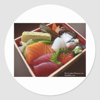 Wonderful Sushi Plate Print On Tees Cards & Gifts Classic Round Sticker