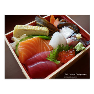 Wonderful Sushi Plate Print On Tees Cards Gifts Post Card