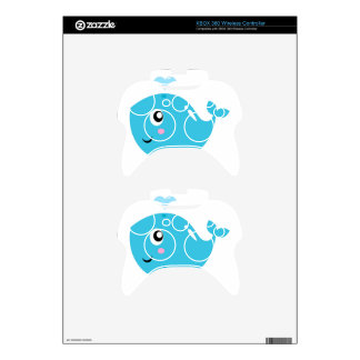 Wonderful t-shirts with Whale blue Xbox 360 Controller Skin