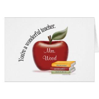 Wonderful Teacher Card