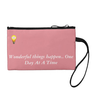 Wonderful things happen.. One Day At A Time Coin Wallet
