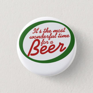 Wonderful time for a beer pinback button