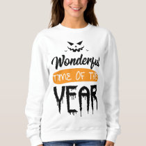 Wonderful Time Of The Year Halloween Pumpkin Gift Sweatshirt
