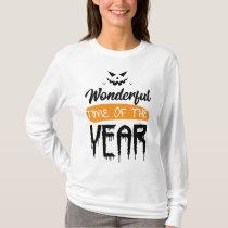 Wonderful Time Of The Year Halloween Pumpkin Gift T-Shirt