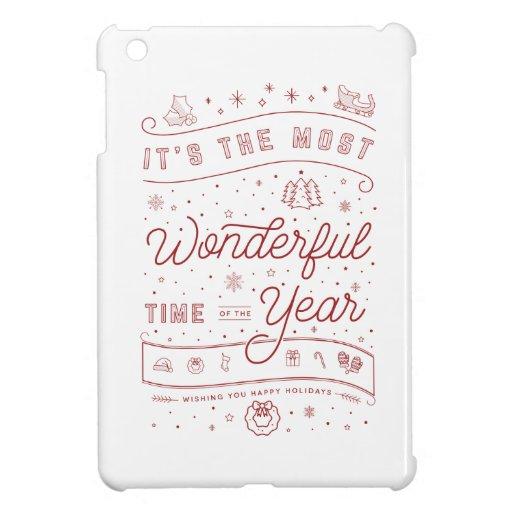 Wonderful Time of the Year iPad Mini Case White