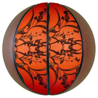 Wonderful tribal with flowers basketball