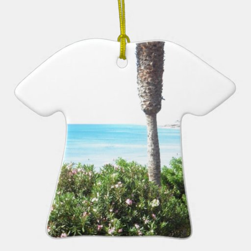 Wonderful View over the Sea Double-Sided T-Shirt Ceramic Christmas Ornament