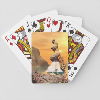 Wonderful view over the sea to the rock playing cards