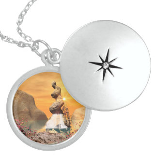 Wonderful view over the sea with waterfall locket necklace